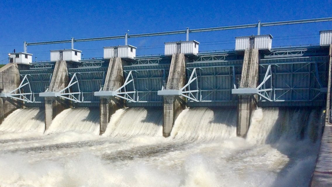 Lake Conroe Dam Gates