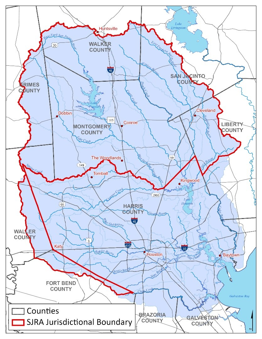 Figure 1-San Jacinto River Watershed with SJRA Boundary