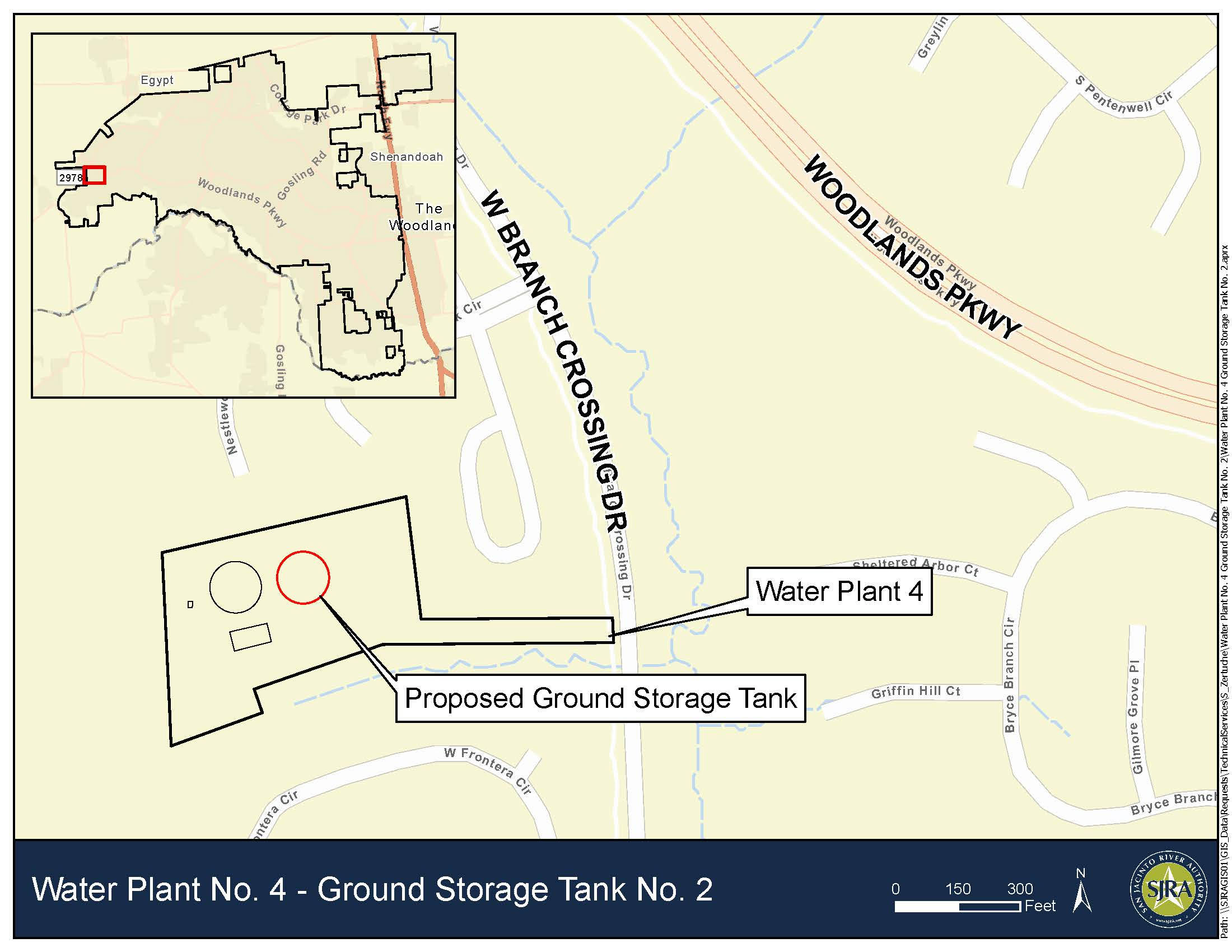 Water Plant No. 4 Ground Storage Tank No 2 - Map