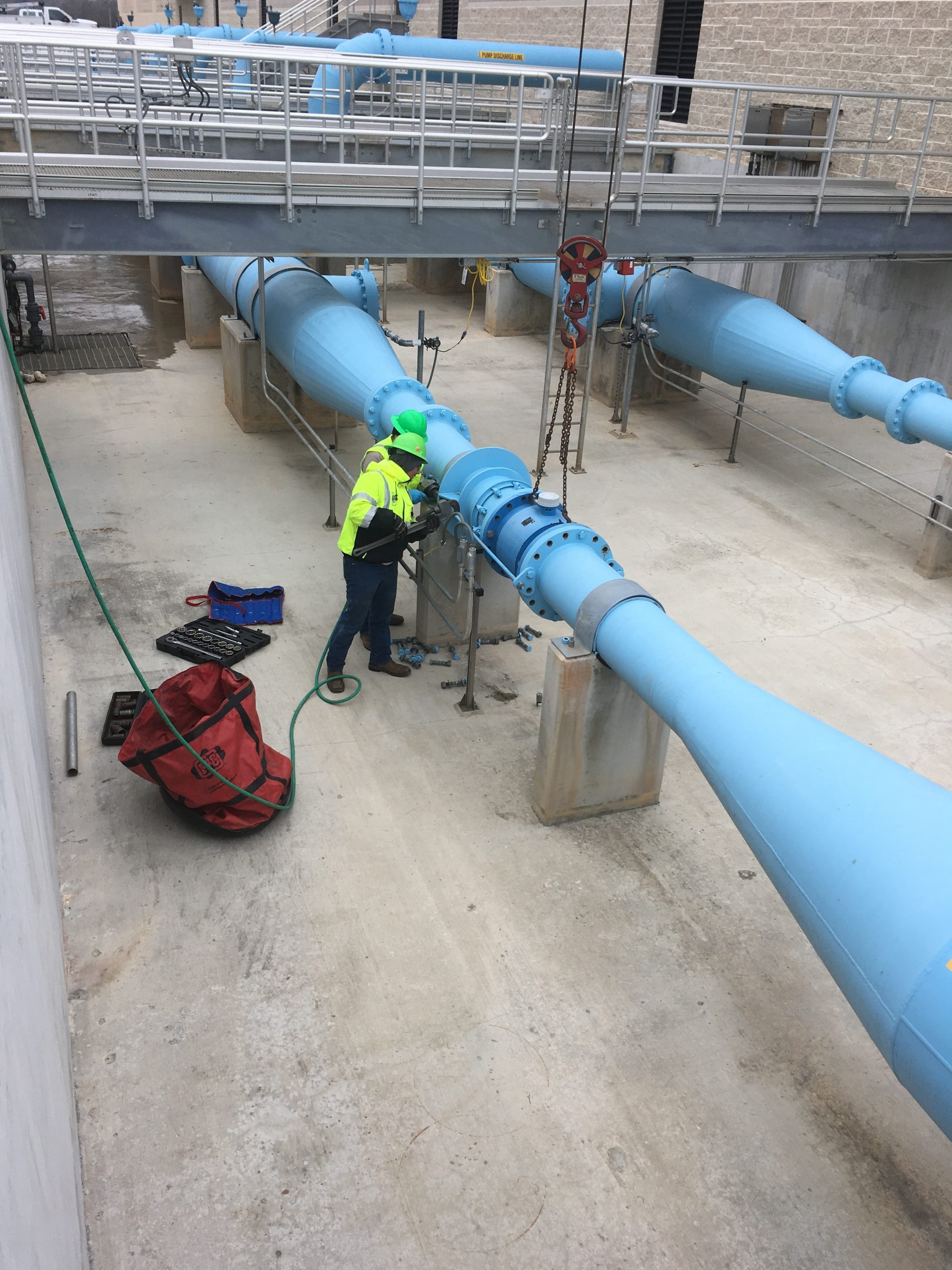 Flow Meter Removal for Callibration
