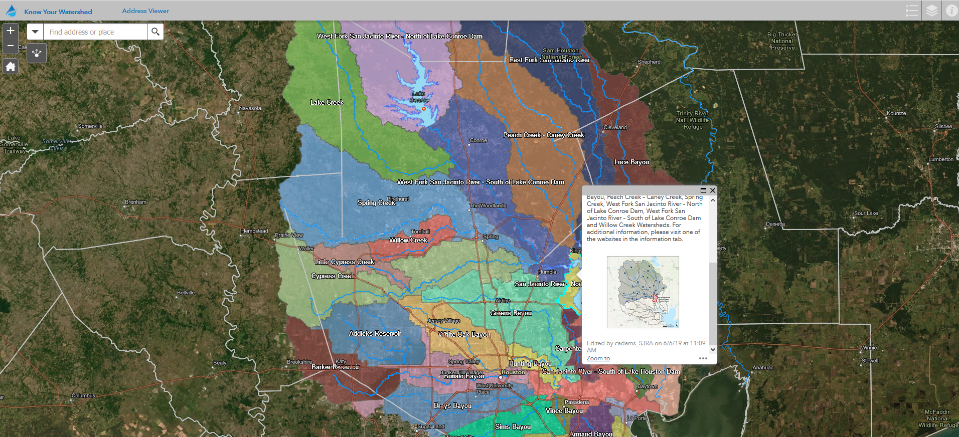 Know Your Watershed Address Viewer