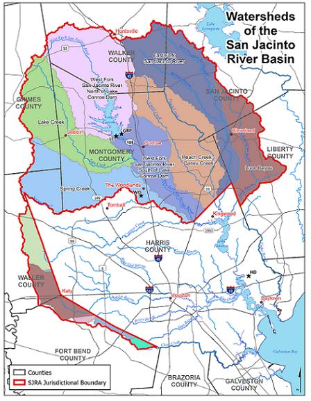 Watersheds of the San Jacinto Basin