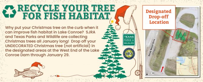 Lake Conroe Christmas Tree Recycle